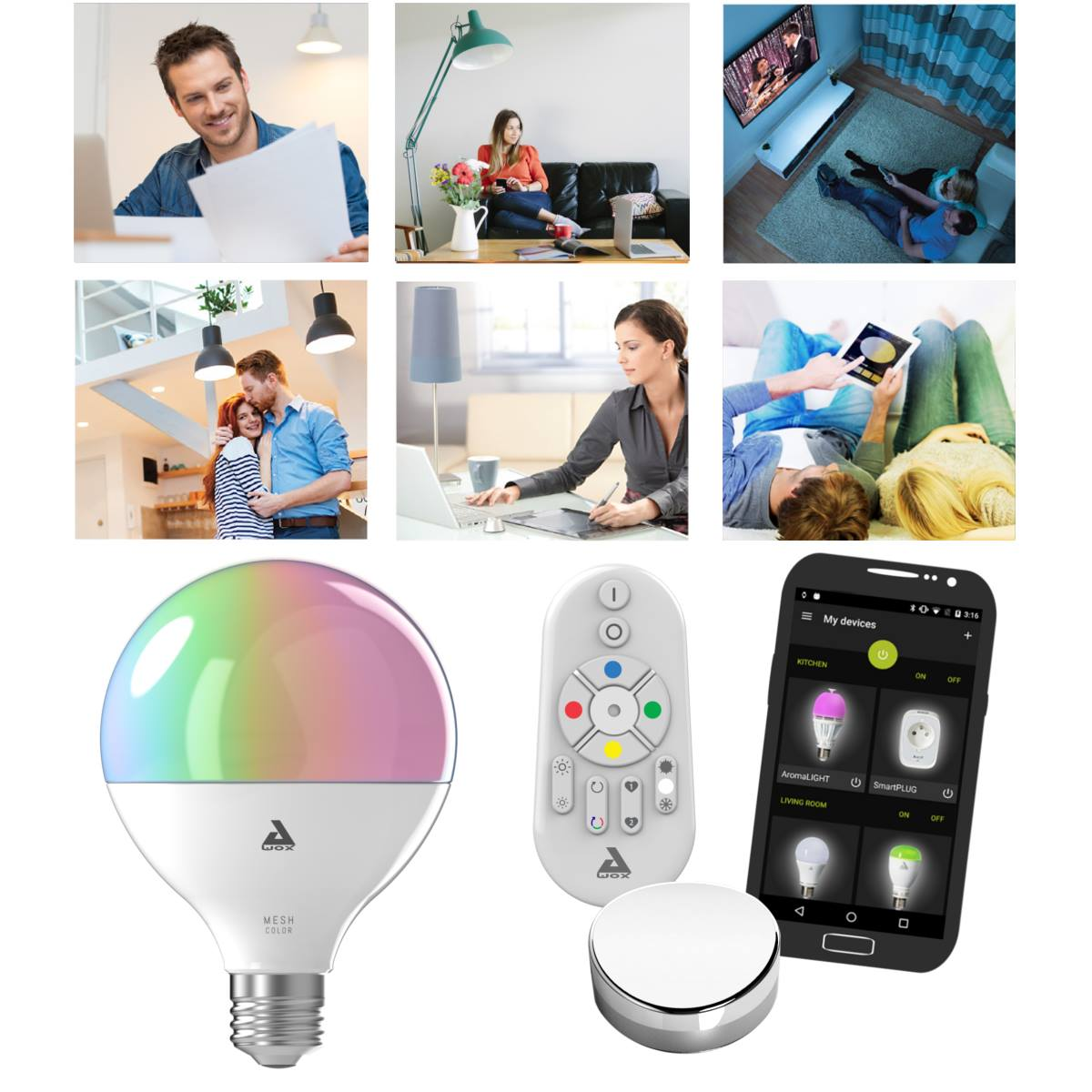 Smartlight mesh color awox - Awox smart control ...