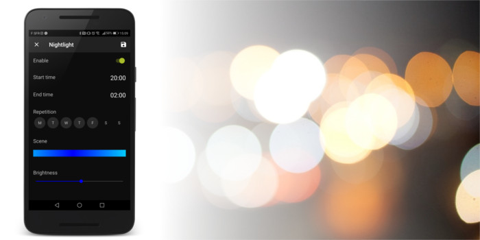 AwoX SmartCONTROL app Nightlight