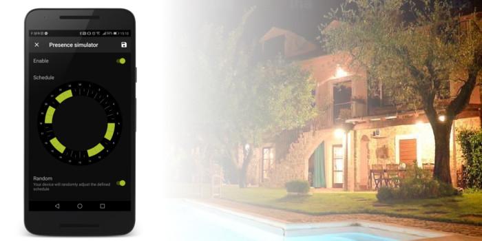 AwoX SmartCONTROL app Presence Simulator